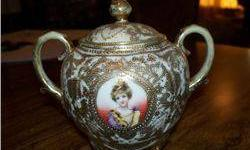 $5 Nippon Covered Sugar W/Portrait of Countess Anna Potocka