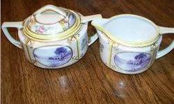 $5 Nippon Cream and Sugar - Purple Cast Cartouche W/Yellow
