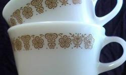 $5 Two Pyrex / Corning Matching Floral & Butterfly Banded