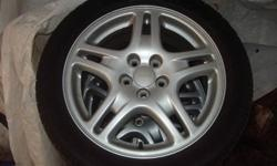 $600 5x100 Wheels Tires Nexen N3000 on 2003 Subaru WRX stock