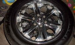 "$600 Chevy 6 lug 20"" wheels and tires NEED GONE ASAP (St."