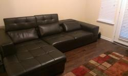 $600 Contemporary Leather Couch