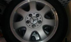 $600 NEW Mercedes-Benz mag wheels with new Goodyear tires