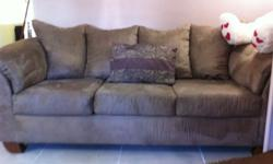 $600 OBO Light Chocolate Suede Couches