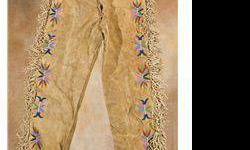 $600 Santee Sioux Beaded Pants