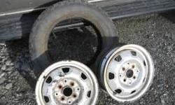 "$60 13"" wheels,TIRE RIMS, ONE PAIR 13"", 4 hole, 4"" pattern,"