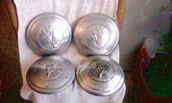 "$60 1935 Ford ""Hubcaps"" set of 4 hubcaps, these are off an"