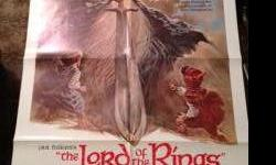 $60 Lord of the Rings 1978 1 sheet animated poster