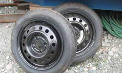 $60 TIRES ON RIMS, NEW, T125/80 R15 95M S300 (pic) ea or