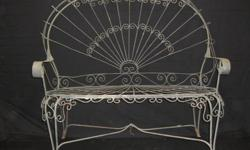 $650 Beautiful Set of French Antique Wire Garden Furniture