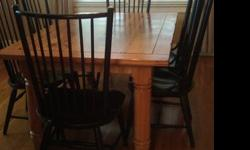 $650 Dining room table and chairs