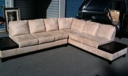 $650 Micro-suede sectional