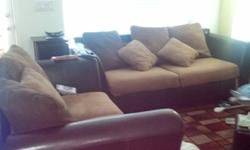 $650 Sofa and Love Seat Set