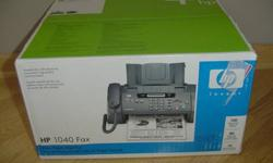 $65 HP 1040 Plain Paper Fax Machine/Copier - BRAND NEW