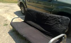 $65 OBO 2 futons. The silver one for $50 and the black one