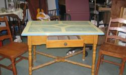$65 Table w/2Chairs ~ Antique Porcelain