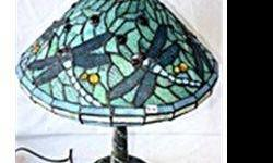 $66 Tiffany Style Blue Dragonfly Lamp