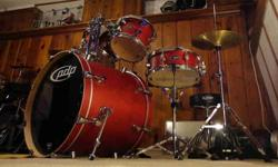 $675 PDP FS Birch Drum Set w/ upgraded Evans heads, cymbals