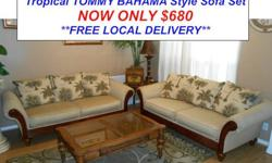 $680 Stunning Tropical Tommy Bahama Style Sofa Set by