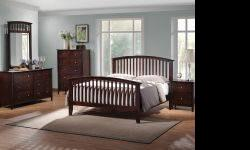 $697 4PC Espresso Queen Size Bedroom Suit...NEW IN BOXES!!