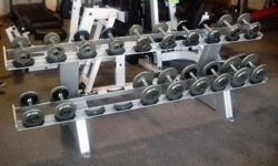 $699 Dumbbell Set with Rack 5-25lb