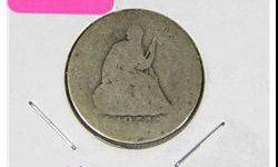$6 1854 Seated Liberty with Arrows Quarter