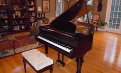 $6,500 Falcone Mahogany Baby Grand Piano