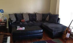 $700 2 piece sofa sectional - sofa w/chase