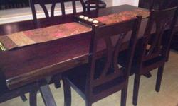 $700 Mahogany Dining Table w/6 Chairs - Moving Sale