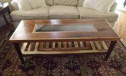 $700 OBO Custom built walnut and hickory coffee table and