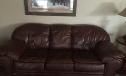$700 OBO Leather Couch, Chair & Ottoman