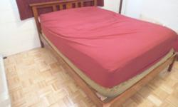 $700 OBO Queen sized pillow top mattress and cherry wood