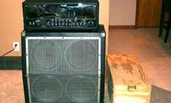 $700 Peavey JSX guitar amp, 4x12 cab and case