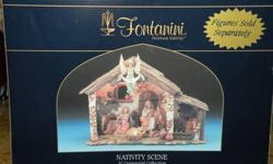 $70 Fontanini 5 Inch Scale 6 Pc Lighted Nativity Set, Brand