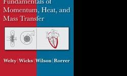 $70 Fundamentals of Momentum, Heat and Mass Transfer (5th