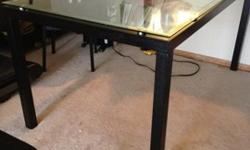 $70 OBO Glass top dining table