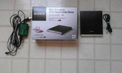 $70 SONY Slim Portable DVD Rewritable Drive USED