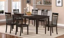 $749 7PC DINING SET TABLE WITH 6 CHAIRS (louisville )