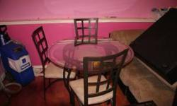 $750 Beautiful glass dining room set!! Can't buy this