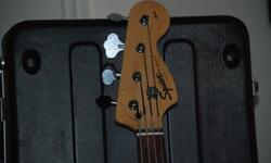 $750 Fender bass (with case) and bass amp
