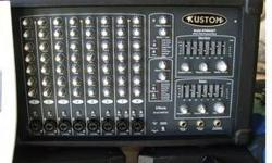 $750 KUSTOM PA KPM8420T 400 WATT 8 Channel powered mixer w/