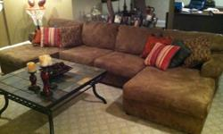 $750 LIKE NEW Ashley Furniture Couch, Coffee Table and Sofa