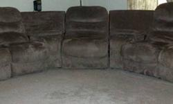 $750 Sectional Sofa with Rockers and Recliners