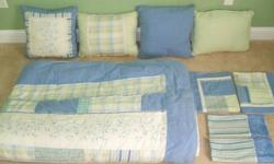 $75 Bedroom Set - Light Blue/Green with