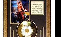 $75 Britney Spears Giclee with Gold Record