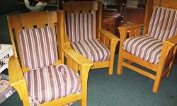 $75 Chairs ~ 3 Matching Wooden Chairs ~ Antique Oak,