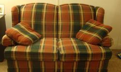 $75 Cute Country Plaid Loveseat