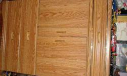 $75 DRESSER Light wood bedroom dresser with 7 drawers and 1