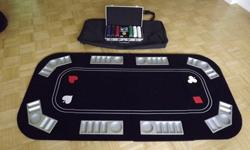 $75 Full-Size Texas Hold'em Folding Table Top with Chip Case