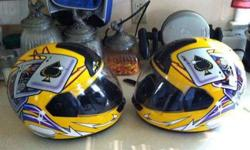 $75 Matching set of full face helmets $75 pair